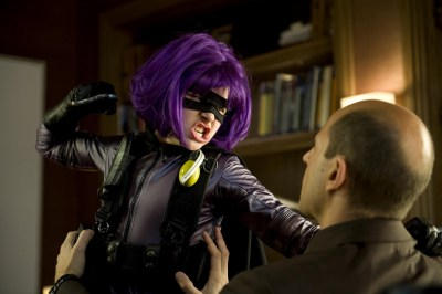 Moretz as Hit-Girl in Kick Ass